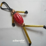หุ่นพยนต์มะเฟือง เฟื่องฟูทรัพย์ รุ่น มงคล ๘ ทิศ พระอาจารย์อรรนพ (พระอาจารย์เล็ก) วัดถ้ำเขาน้อย จ.เพชรบุรี เนื้ออาถรรพ์ลงยาสีชมพู