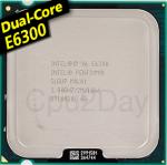 [775] Dual Core E6300 (2M Cache, 2.80 GHz, 1066 MHz)