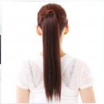 hair piece ทนความร้อนผมตรงเกาหลี่ (สีน้ำตาลเข้ม)