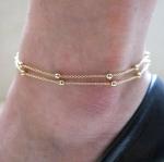 สร้อยข้อเท้า Two Foot Chain women bracelet anklet