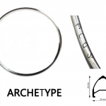 H PLUS SON รุ่น ARCHETYPE - Polished SIlver