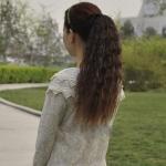 hair piece ทนความร้อนเกาหลี (สีน้ำตาลเข้ม )