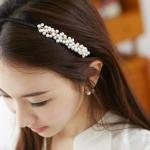 ที่คาดผมดอกไม้สีขาวเกาหลี
