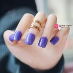 เล็บปลอม เกาหลี แฟชั่น Blue Purple