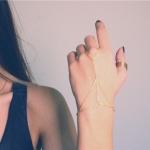 สร้อยข้อมือ สไตล์ยุโรป Hand chain ring M