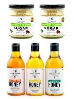 Healthy Collection Combo B : Coconut Flower Sugar 120G. x 2 + Pure Natural Honey 380G. (เลือกรสได้) x 3