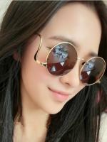 แว่นตาแฟชั่นเกาหลีกรอบทองเลนส์สีชา
