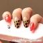 เล็บปลอมแฟชั่นเกาหลี(ลายเสือดาวสลับแดง) กล่องละ24ชิ้น (พร้อมกาวอย่างดี1หลอด) thumbnail 3