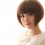 วิกผมบ็อบสั้นหน้าม้าเกาหลี น่ารัก สวยใส ดูอ่อนเยาว์ (สีน้ำตาลอ่อน ) thumbnail 1