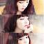 วิกผมเกาหลีทนความร้อนหยิกยาว(สีแดงประกายม่วง) thumbnail 8