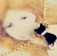 จี้คอแมวดำฝังเพชรเกาหลี thumbnail 1