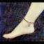 สร้อยข้อเท้า โมราสีแดงประดับปลาเงิน Natal thumbnail 2