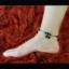 สร้อยข้อเท้า เงินประดับกระดิ่งสีดำคริสตัล thumbnail 3