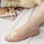 สร้อยข้อเท้าเกาหลีสุนัขห้อยประดับเพชร(สีทอง) thumbnail 3