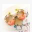 ต่างหูเพชรสตั๊ดสีชมพูหัวใจต่างหูมุกเกาหลี thumbnail 1