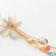 สร้อยคอเกาหลีรูปดอกไม้สีขาวประดับอัญมณีติดเพชร thumbnail 1