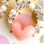 ต่างหูเพชรสตั๊ดสีชมพูหัวใจต่างหูมุกเกาหลี thumbnail 2