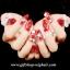 เล็บปลอมแฟชั่นไฮโซลายดอกไม้ประดับเพชรและทับทิมติดโบว์(ํYUNAIL)กล่องละ24ชิ้น thumbnail 2