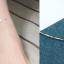 สร้อยข้อเท้าเกาหลี Silver colored square pendulum thumbnail 3