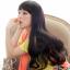 วิกผมยาวดันลอน แนวเกาหลี สไตล์น่ารักฟินๆ (สีน้ำตาลเข้ม) thumbnail 2