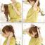 hair pieceเกาหลี ทนความร้อนอย่างดี(สีดำ) thumbnail 2