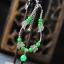สร้อยข้อเท้า Retro อาเกตสีเขียวเข้ม 316B thumbnail 2