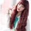 วิกผมเกาหลีทนความร้อนหยิกยาว(สีแดงประกายม่วง) thumbnail 5