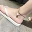 สร้อยข้อเท้า เชือกหนังร้อยไข่มุกเกาหลี thumbnail 2