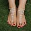 สร้อยข้อเท้า anklets เพชรใบไม้ประดับเจ้าสาว เกาหลี thumbnail 1