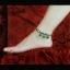 สร้อยข้อเท้า คริสตัลธรรมชาติสีเขียวโมรา DIY929 thumbnail 2