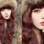วิกผมเกาหลีทนความร้อนหยิกยาว(สีแดงประกายม่วง) thumbnail 10