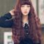 วิกผมเกาหลีทนความร้อนหยิกยาว(สีแดงประกายม่วง) thumbnail 3