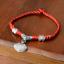สร้อยข้อเท้า Red string knit anklets thumbnail 3