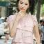 สร้อยเงินเกาหลีใบไม้สีขาวประดับเพชร thumbnail 8