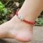 สร้อยข้อเท้า ธรรมชาติโมราสีแดงปลาจูบ Retro thumbnail 2