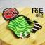 ถุงมือเจลครึ่งนิ้ว QEPAE - Green thumbnail 2