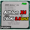 [FM2] CPU Athlon X4 760K 3.8Ghz Turbo 4.1Ghz