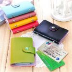 กระเป๋าใส่บัตร Color card leather