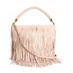 กระเป๋าแบรนด์ H&M BLACK FRINGE SHOULDER BAG สีครีม