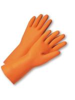 ถุงมือยาง สีส้ม ตรา C.MK