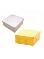 กล่องพักสายเหลี่ยม (สีขาว,เหลือง) ขนาด 4x4