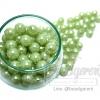 ลูกปัดมุกพลาสติก 10มิล สีเขียวหยก (450 กรัม)