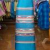 ผ้าซิ่นศิลามณี สีฟ้า