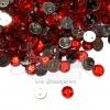 เพชรครึ่งซีก 2รู 6มม. สีแดง (10 กรัม)