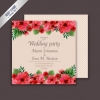 การ์ดแต่งงาน Wedding card สไตล์การออกแบบดีไซน์แบบหวานๆใช้โทนชมพูและตกแต่งด้วยดอกไม้สีชมพูเข้มดูสดใสสุดๆ การ์ดงานแต่ง ไว้สำหรับ เรียนเชิญแขกผู้มีเกียรติเข้ามาร่วมงานแต่งงาน // ตัวอย่างดีไซน์ การ์ดแต่งงาน การ์ดเชิญ การ์ดสวยๆ