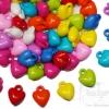 จี้อะคริลิค 15มม. ลายหัวใจ คละสีสด (135 กรัม)