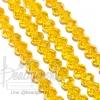 คริสตัลโมดาห์ 8มม. ทรงซาลาเปา สีเหลืองทอง (72 เม็ด)