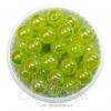 ลูกปัดพลาสติก เคลือบรุ้ง 10มม. สีเขียวตอง (15 กรัม)