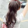 hair piece ทนความร้อนเกาหลี(สีน้ำตาลอ่อน)