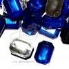 เพชรครึ่งซีก 12*18มม. แปดเหลี่ยม สีน้ำเงิน (50 ชิ้น)